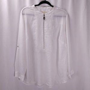 Michael Michael Kors Roll Tab Sleeve Tunic Top